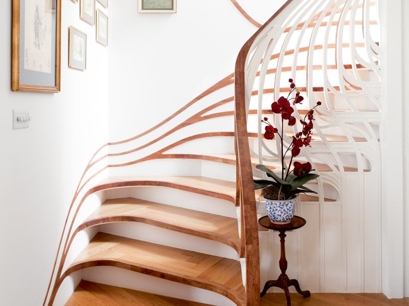 Atmos Studios's Sensualscaping stairs were painstakingly crafted using computer numerical control technology. Photograph: Ben Blossom