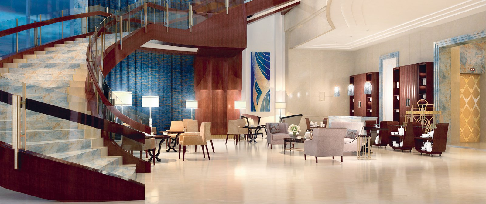New meets old in the 1920s-inspired drawing room of the St Regis Chengdu