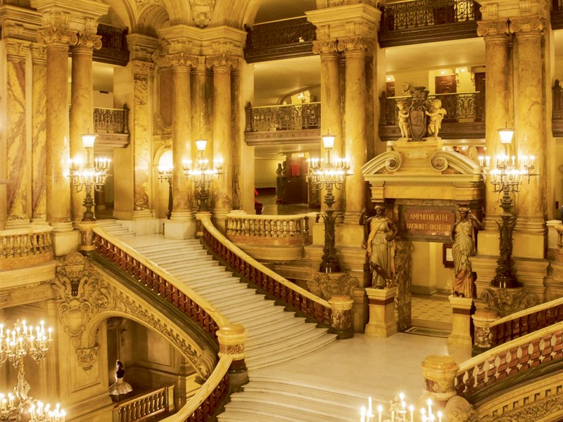 The Grand Staircase at the Palais Garnier in Paris. Photograph: Superstock