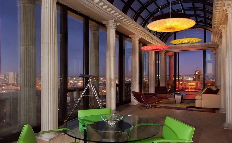 Unique penthouse atop a classic Art Deco building in the heart of San Francisco