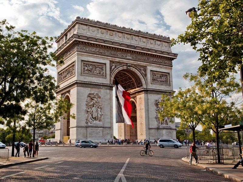 Arc de Triomphe in Paris. Photograph: Robert Harding. Banner image: Robert Harding