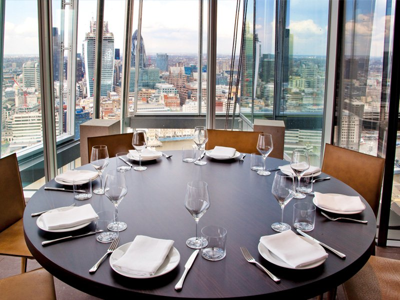 Oblix at The Shard, one of London's most popular restaurants, enjoys outstanding views over the city