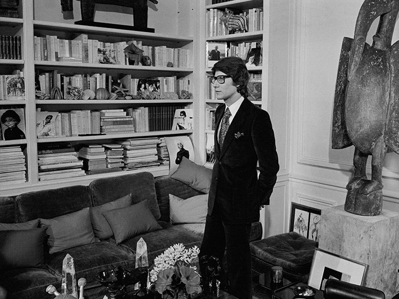 Designer Yves Saint Laurent at home at Place Vauban, Paris on February 12, 1968. Image copyright Jacques Haillot/Sygma/Corbis