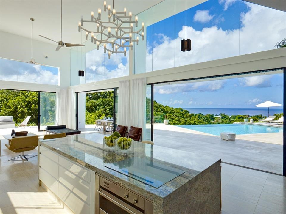 4 Bedrooms, 4,330 Sq Ft.This stylish and newly built contemporary 4 bedroom villa sits on a ridge and boasts magnificent sea views over an impressive gully, which can be enjoyed from an inviting infinity edge pool.