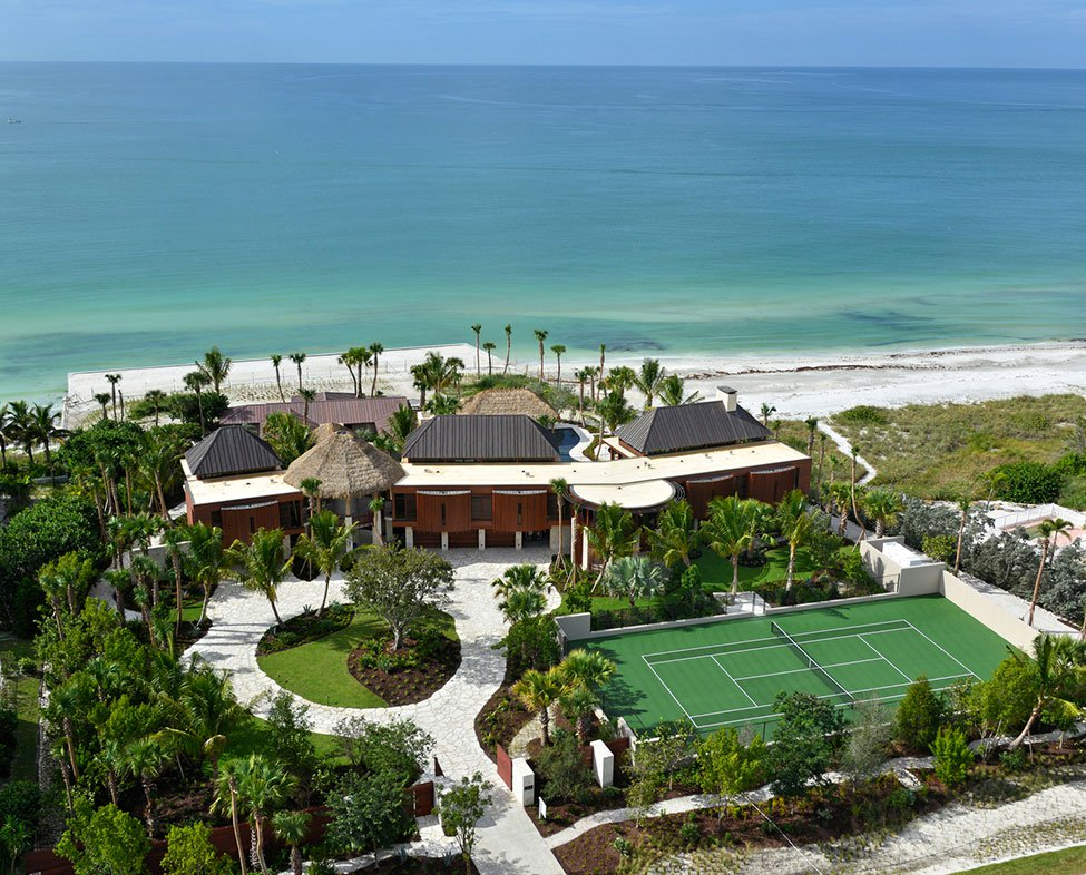 <b>6 Bedrooms,  9,262 sq. ft.</b><br/>Magnificently poised on 2.57 pristine acres on the Gulf of Mexico, you'll find Ohana, a breathtaking tropical hideaway inspired by the spirit of coastal South Africa and southern Indonesia.