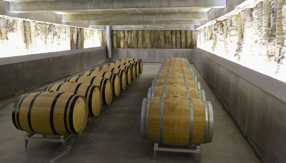A state-of-the-art wine storage area is among the many features of this 4.6-hectare vineyard château in the Côtes de Castillon appellation of Bordeaux.