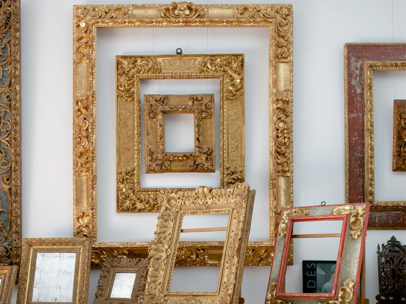Art collectors can choose frames from any era, so long as the frame accentuates the vibrancy of the artwork itself and fits with the room it's being exhibited in. Photograph: Anna Schori