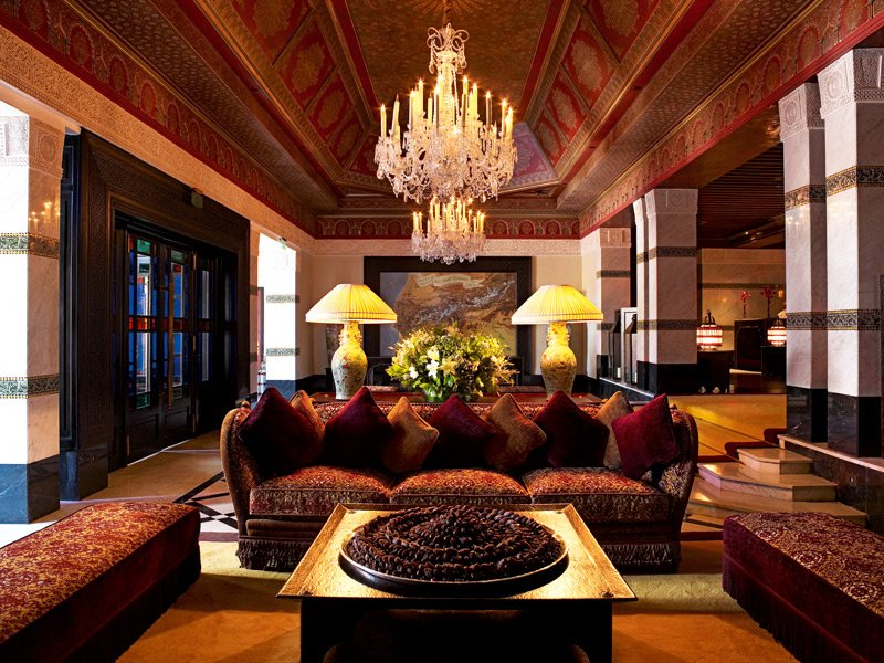 Classic Moroccan craftsmanship prevails at the Taj Palace, which is set in the famed Palmeraie region of Marrakech.