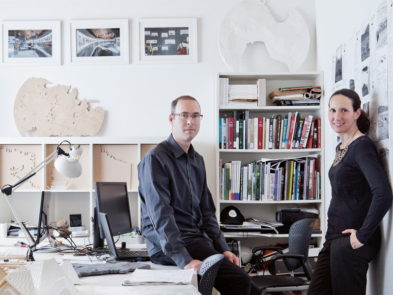 Lola Sheppard photographed with Lateral Office cofounder Mason White. Photograph: Lateral Office