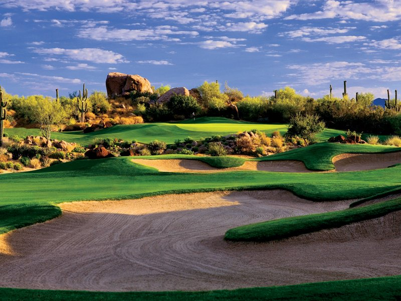 Golf-lovers staying at the Four Seasons in Scottsdale benefit from a complimentary shuttle service to two of Arizona's most celebrated golf courses  – The Pinnacle and The Monument. Photograph courtesy of Scottsdale Convention & Visitors Bureau.