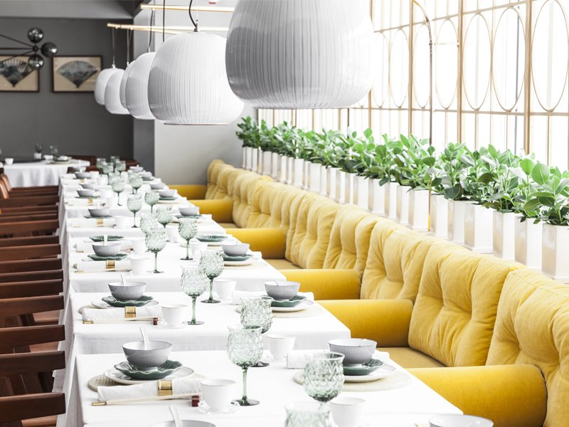 Located on Hong Kong's growing art trail in the Central District, the Ilse-Crawford designed Duddell's is a place where people meet to enjoy food and art in a relaxed environment.