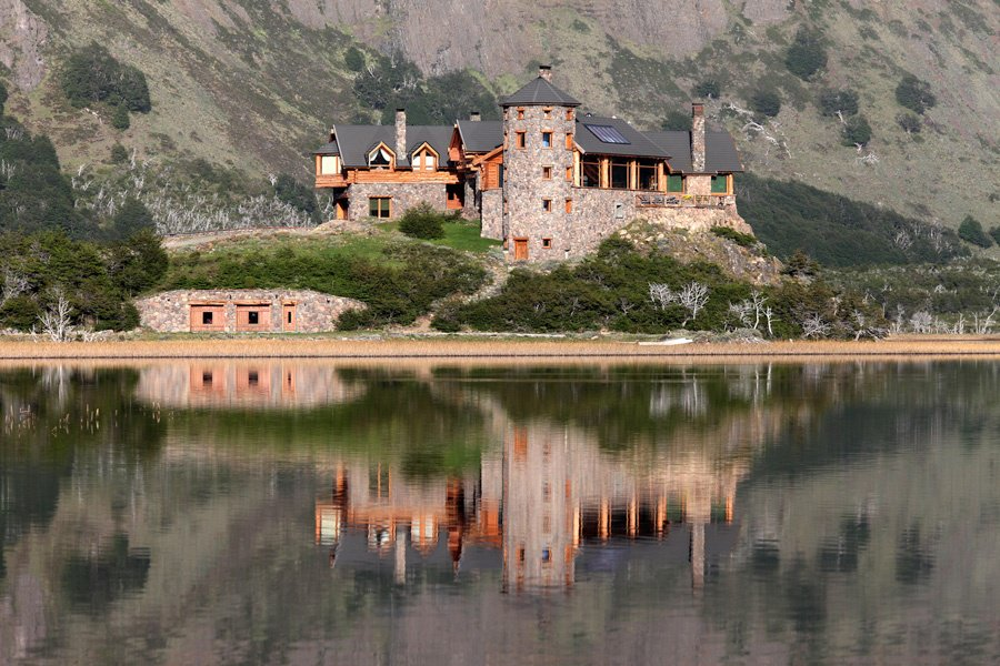 This estate in Argentina sits next to a tranquil lake and is surrounded by majestic mountains.