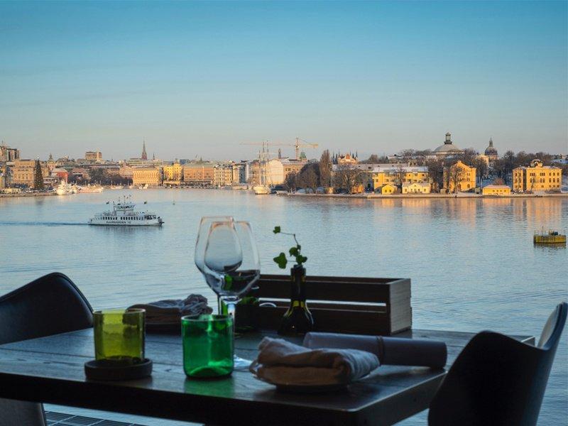 The restaurant at Stockholm's Fotografiska gallery enjoys stunning views of the city.