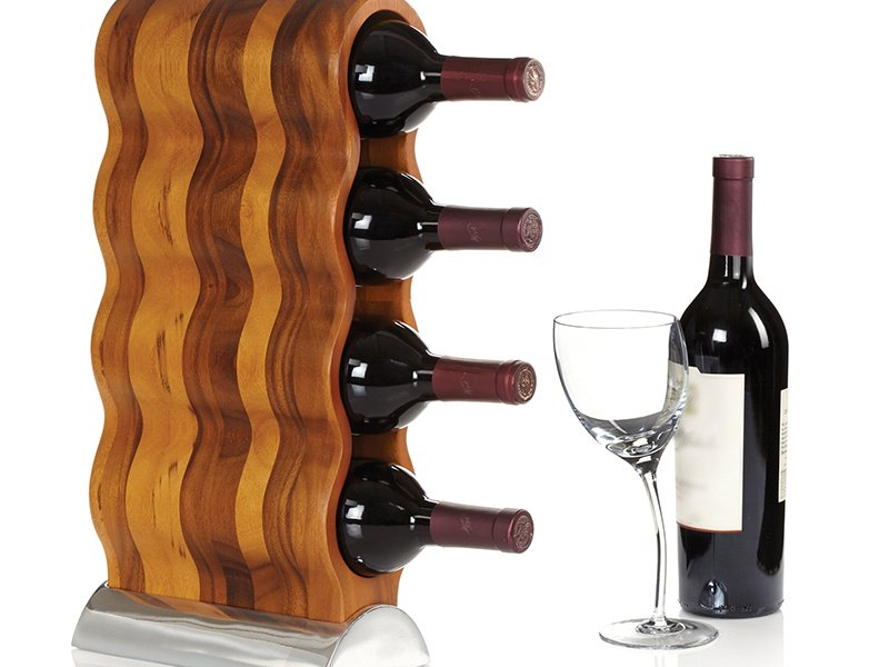 Curvo Wine Rack designer Steve Cozzolino engages the senses through fluid lines and sensual forms.