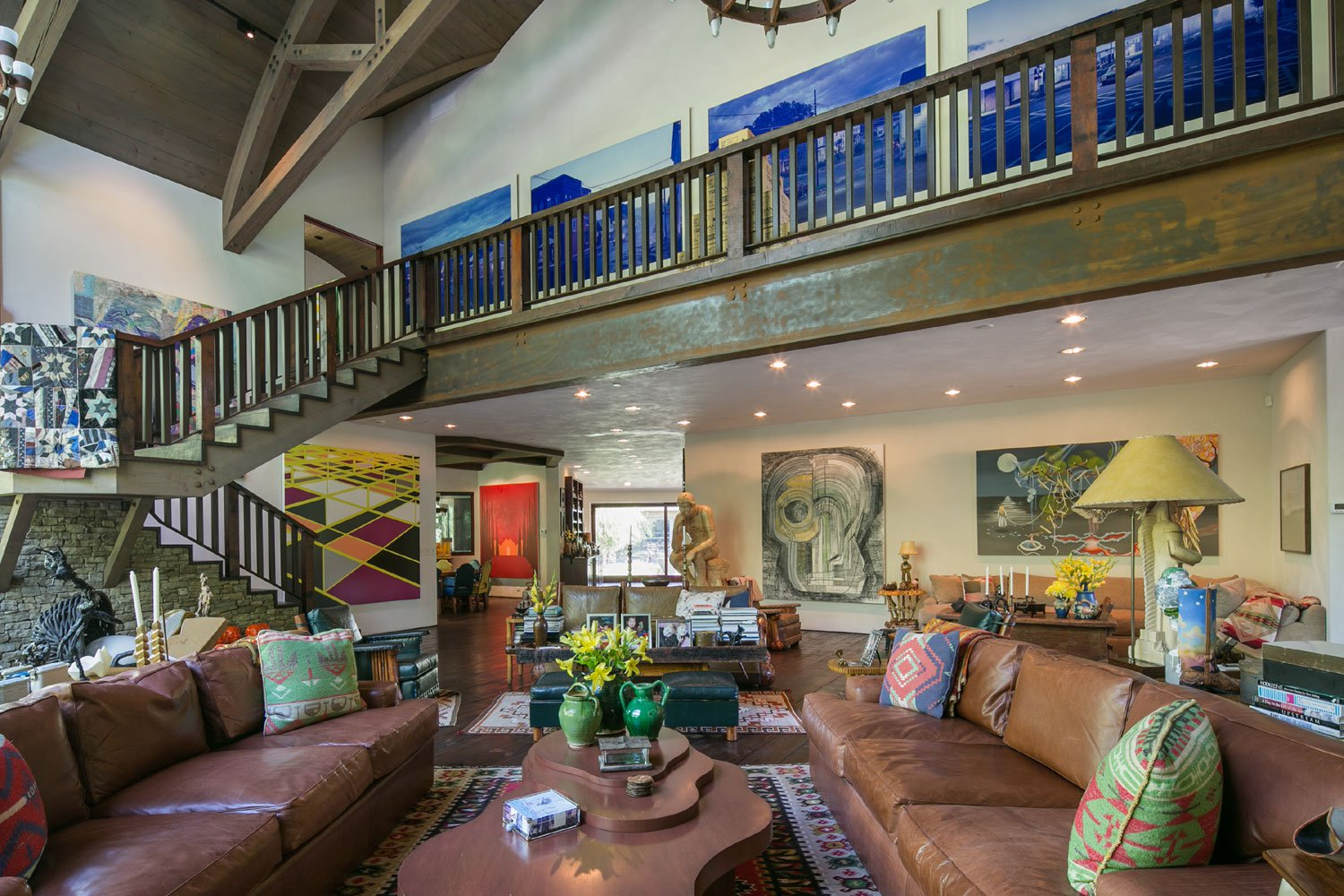 The home was designed to reflect a collector's passion for art and life and place.