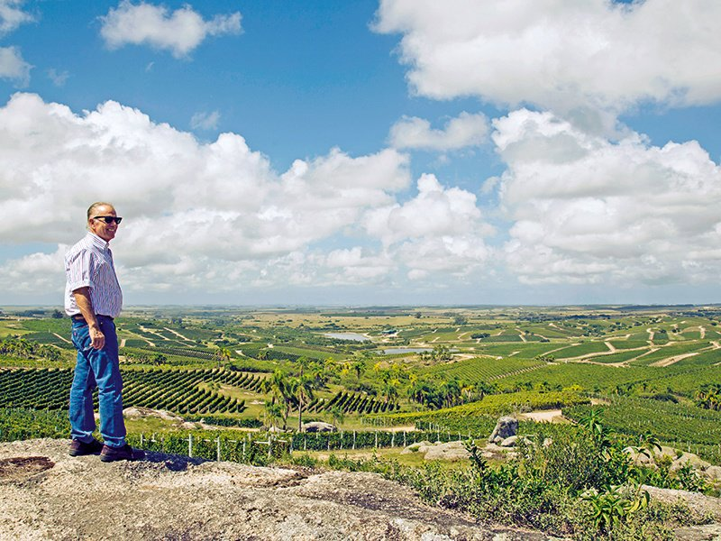 """Alejandro Bulgheroni, who has vineyards on four continents, says his Uruguayan venture, Bodega Garzón, """"represents a new wine region and a new concept in agriculture."""""""