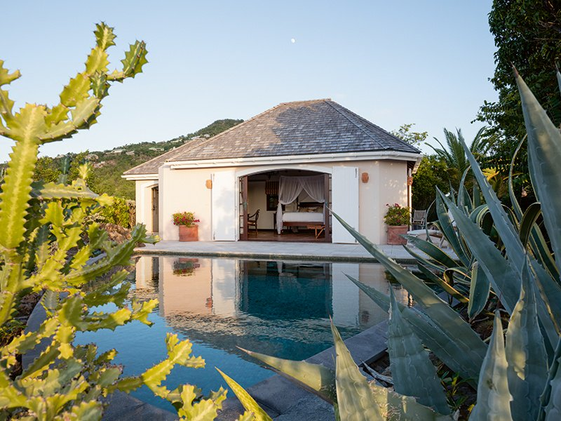 There are two luxurious guest cottages located on the property, one with its own private plunge pool.