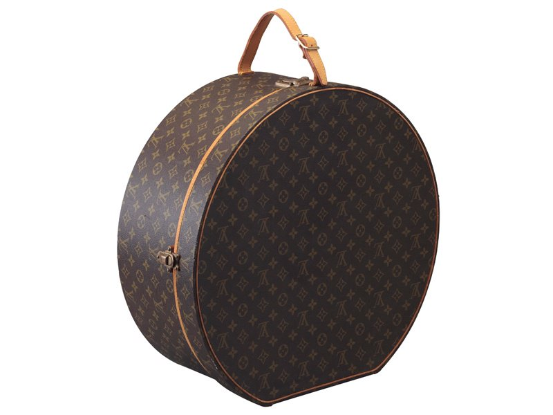 Hat boxes are often used as chic home accessories; this monogram canvas boîte à chapeaux by Louis Vuitton sold at Christie's New York in September 2016 for $875. Photograph: Christie's Images Ltd, 2017