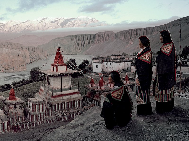 """The Tangge Village, in Upper Mustang, Nepal. When photographing isolated communities, Jimmy Nelson says, """"you have to get on your knees, you have to sweat, you have to cry – you have to show your humanity."""" Photograph: © Jimmy Nelson Pictures BV"""
