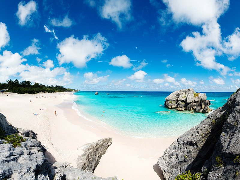 Stretching for half a mile, Warwick Long Bay is Bermuda longest beach. Photograph: Getty Images