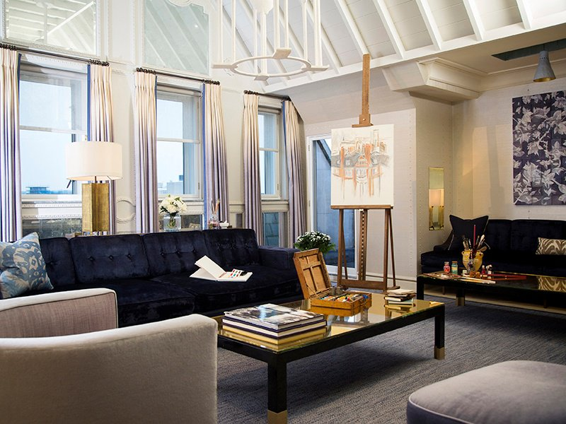 Visitors to The Apartment at The Connaught will find paint and equipment from Green & Stone to channel their inner artist, with personal tuition also available.