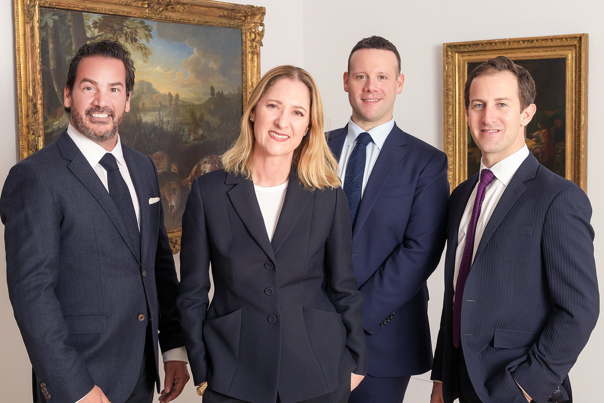 Left to right: Christie's International Real Estate's New York City brokerage agents, Nic Bottero, Erin Boisson Aries, Dustin Crouse, and Adam Zucker