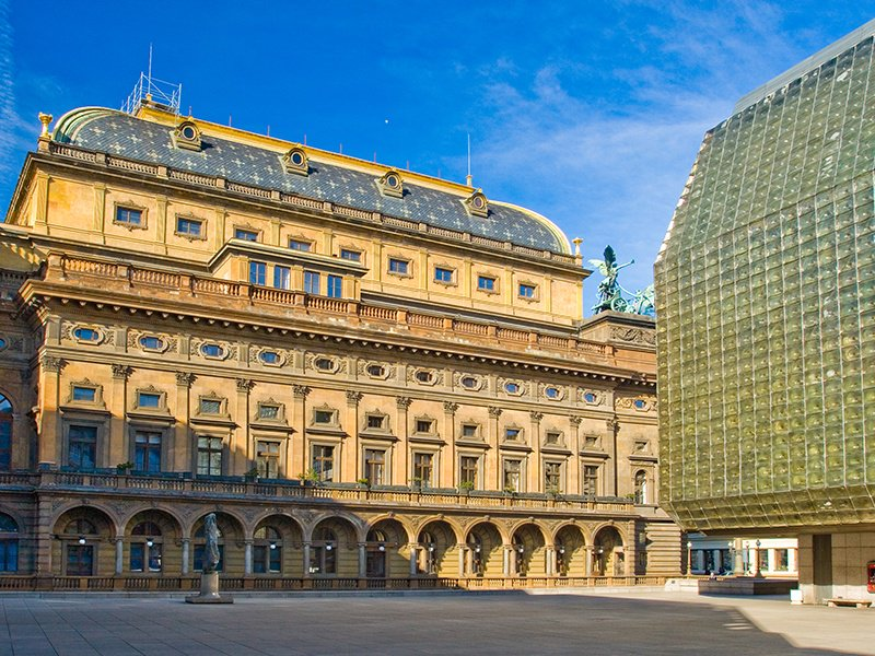 The neo-Renaissance National Threatre building was constructed in the late 19th century, now offering a program of opera and ballet. Photograph: Shutterstock