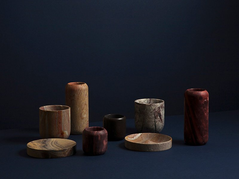 Bravo's Monolith series perfectly captures the patterns, textures, and colors of the combarbalita stone that make each piece unique.