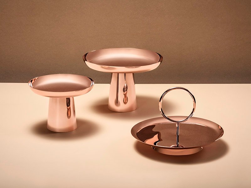 """""""I want to find design solutions that achieve a balance between sustainability, innovation, and craftsmanship,"""" says Brazilian designer Brunno Jahara, who created the simple but multifunctional Stacks serving trays and dishes."""