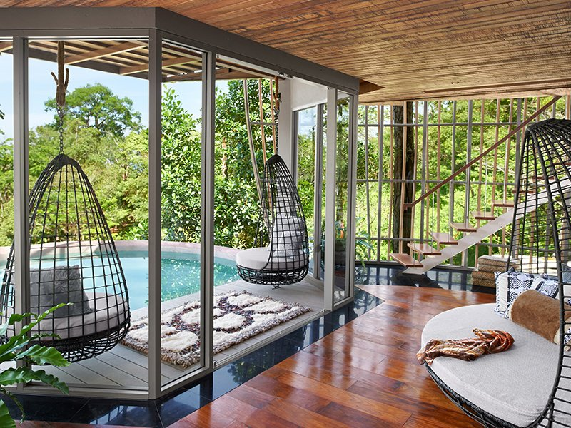 Keemala works in harmony with the environment, celebrating and protecting the forest surrounding its ecologically designed villas. The view from the private pool deck offers the perfect, verdant escape from city life.
