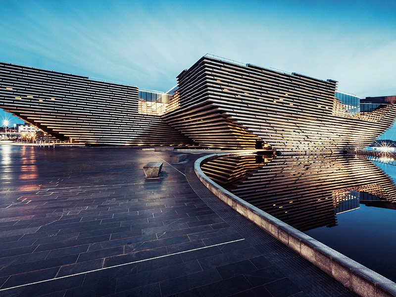 The Kengo Kuma-designed V&A Dundee will be the V&A's first outpost outside London, and Scotland's first design museum. Photograph: Ross Fraser McLean. Banner image: The Museo Internacional del Barroco outside Puebla, Mexico. Photograph: Getty Images