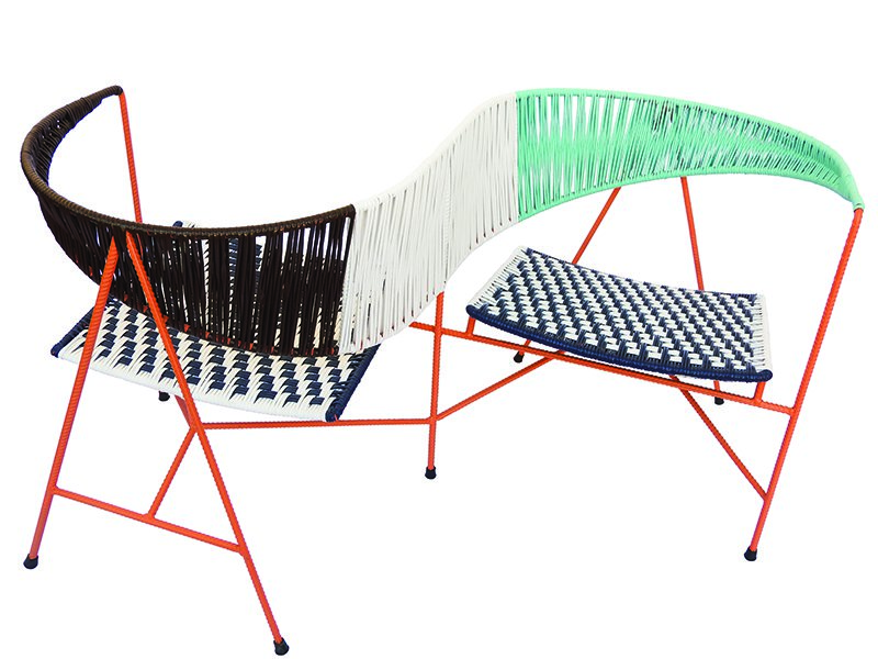 The unique woven outdoor furniture created by Marni for Salone del Mobile 2018 draws its form from Colombian folklore.