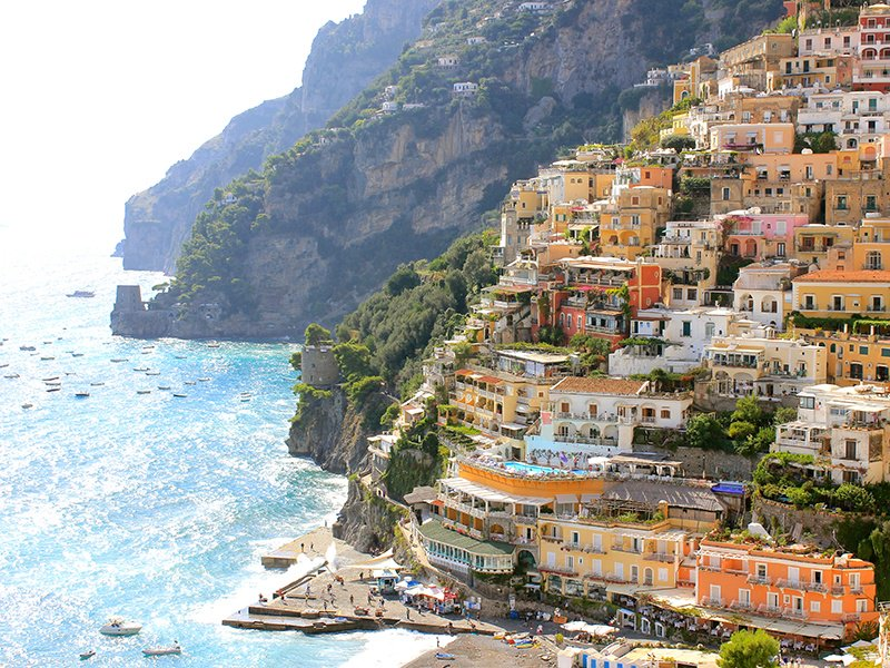 Positano on Italy's Amalfi Coast was a favorite of Nobel Prize-winning author John Steinbeck and remains popular with the A-list today. Photograph: Getty Images. Banner image of Positano: Shutterstock
