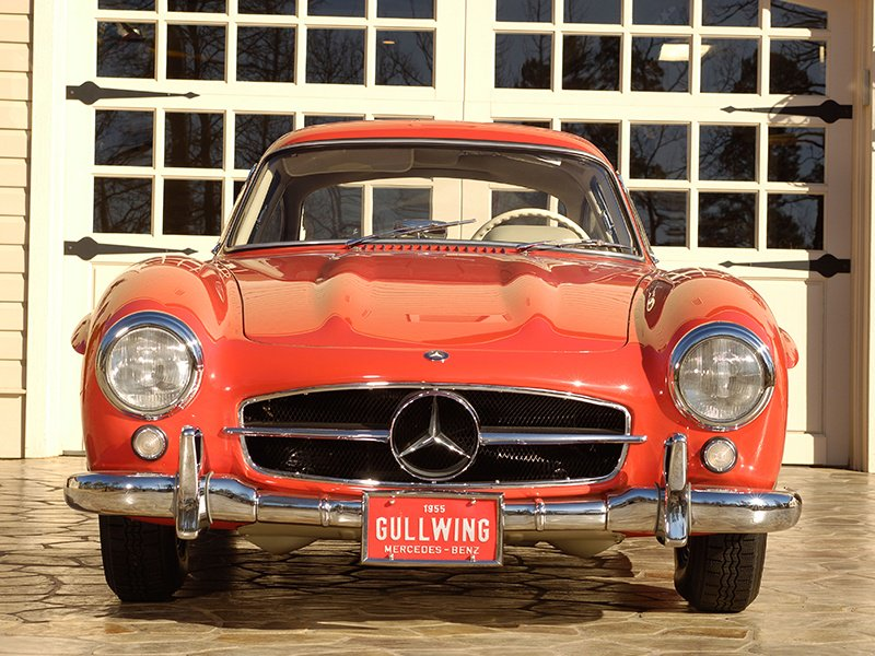 The Mercedes-Benz 300 SL Gullwing. Classic cars should be garaged in suitably dry conditions and regularly driven to prevent deterioration. Photo: Alamy.