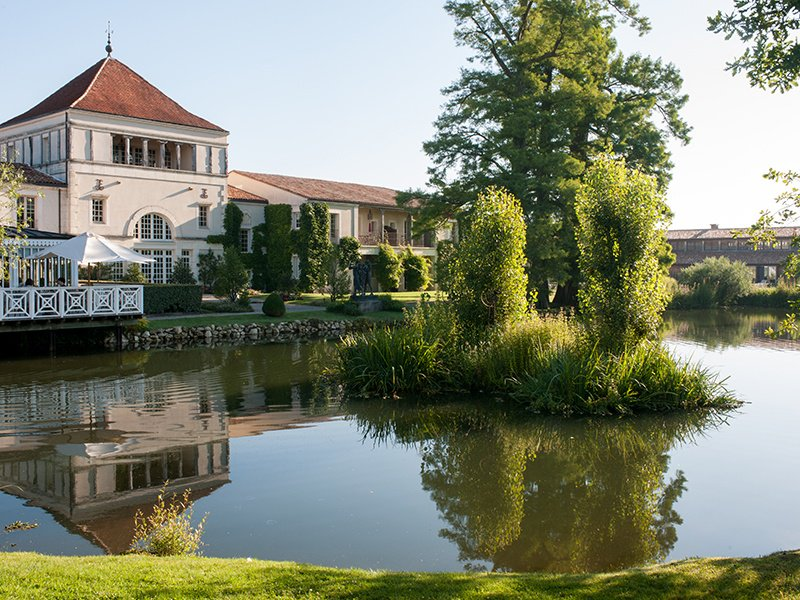 Les Sources de Caudalie is a spa estate that looks more like a country village, clustered around a lake and surrounded by vines.