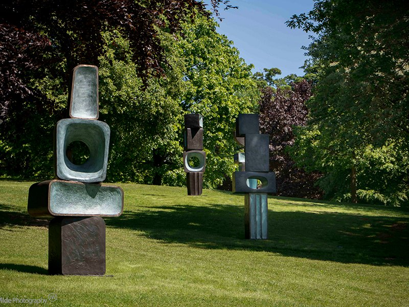 Yorkshire Sculpture Park is the only place you can view Barbara Hepworth's The Family of Man, 1970 in its full form. © Bowness. Courtesy Yorkshire Sculpture Park. Photograph: Jonty Wilde.