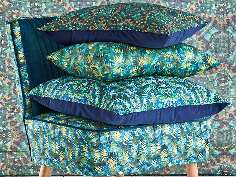 These Jungle cushions take their cue from the lush African landscape in which Andrea Brand grew up. Photograph: Greg Cox.