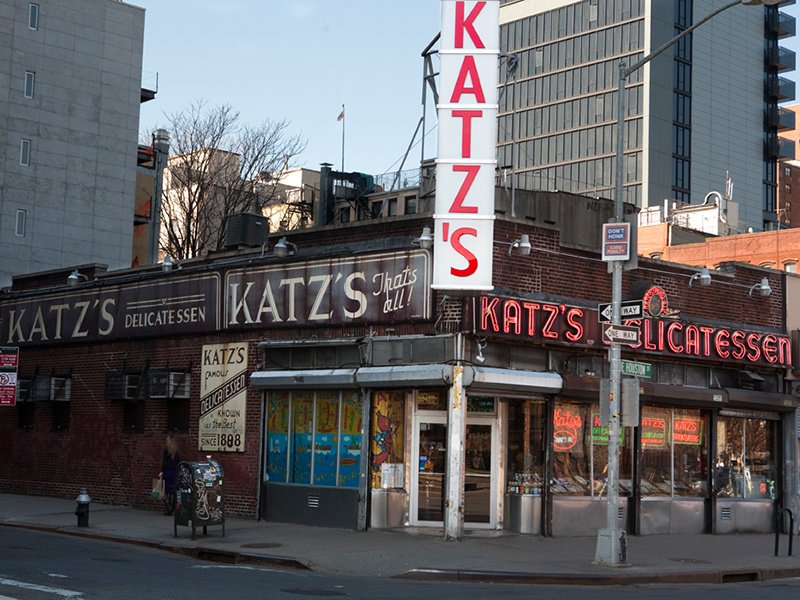 Katz's Delicatessen on East Houston Street in New York's Lower East Side has been in business since 1888, and has appeared in movies including <i>When Harry Met Sally</i>. Photograph: Katz's Delicatessen.