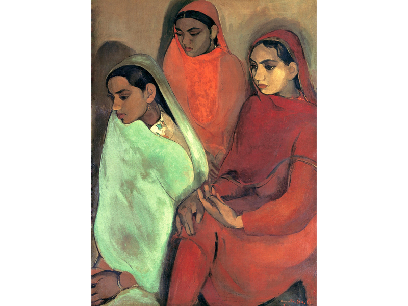 Group of Three Girls by Amrita Sher-Gil