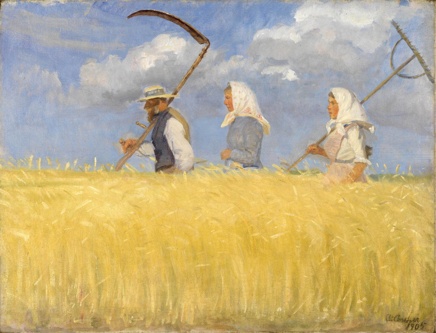 Anna Ancher Harvesters