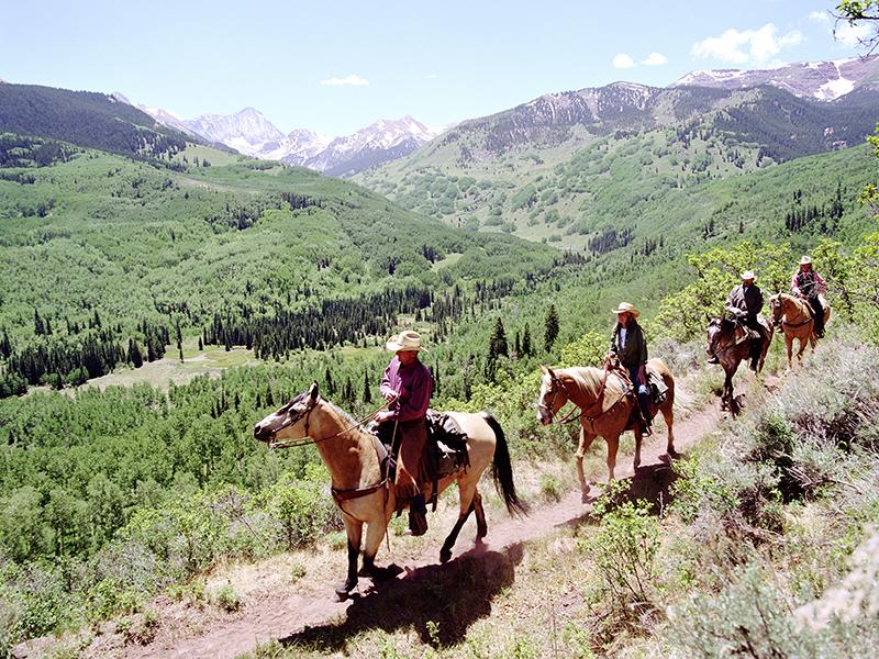 Horseback riding Aspen Colorado