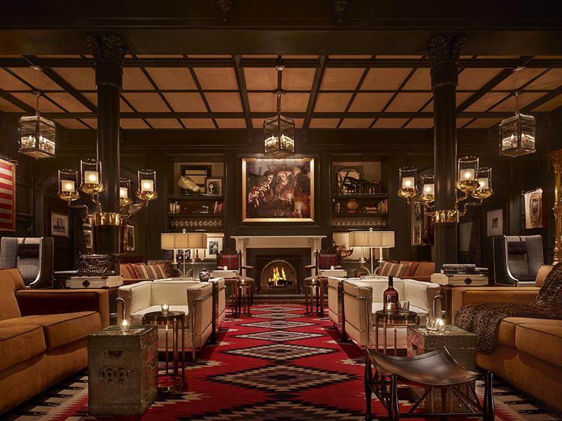 Hotel Jerome Aspen lounge bar