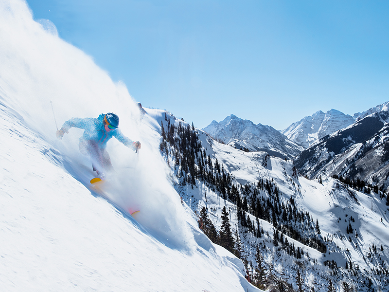 Skiing in Aspen Colorado Snowmass