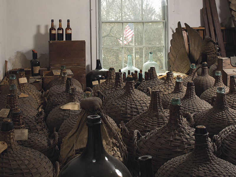 Vintage wine demijohns madeira