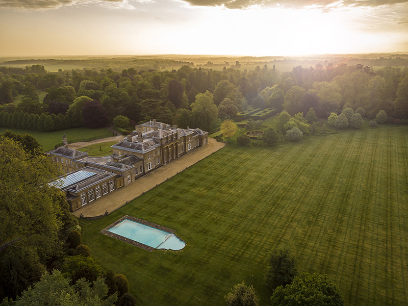 Stately home in the countryside