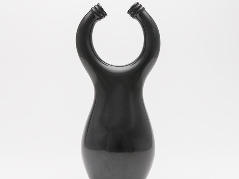 Black ceramic sculpture