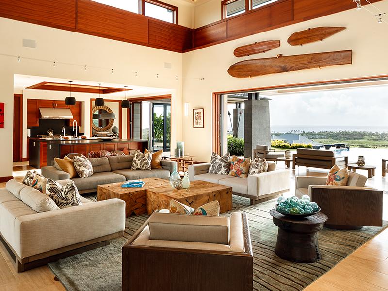 Kahalawai Street Kauai Hawaii living room