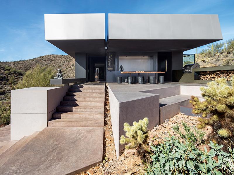 Concrete house in the desert