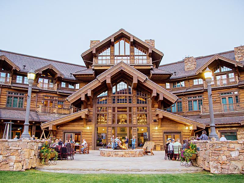 Large timber lodge