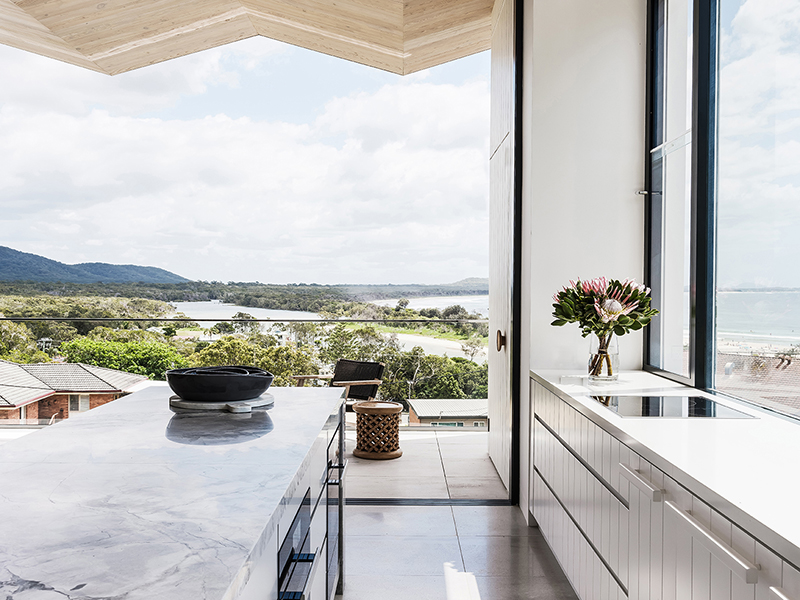 Kitchen in Crescent Head House in Australia
